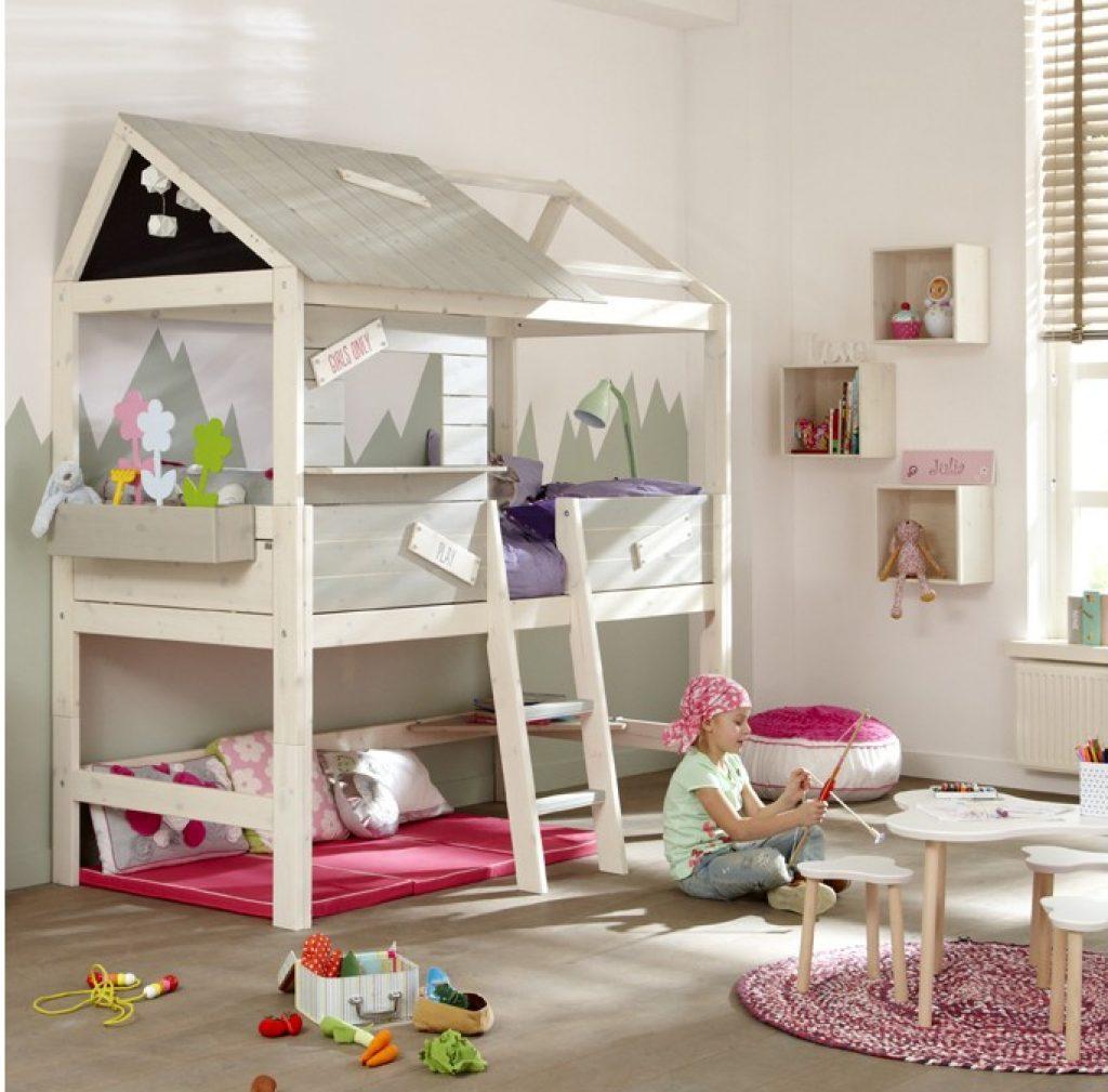 lit cabane complet avec échelle
